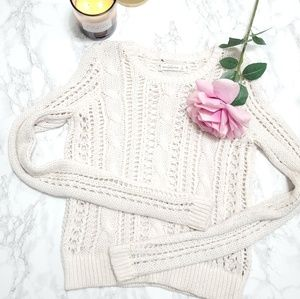 ABERCROMBIE Cable Knit Sweater Size S